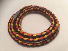Da Uomo Multi-COLORATI Leather Cord RAP Braccialetto con Fibbia Argento tutti fatti a mano