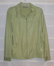 TanJay Lime Green Lightweight Zip Front LS Jacket Size LARGE NWOTS!
