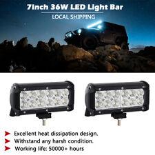 "2PCS 36W 7 inch Flood LED Work Light Bar Offroad Driving Lamp ATV Car Truck 6"""