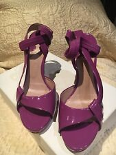 Chloe Purple Patent Leather Sandals, 38/ 8