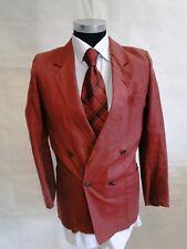 Windsor Sakko Damen Model Zweireiher Rot Unifarben Leinen Gr. 36