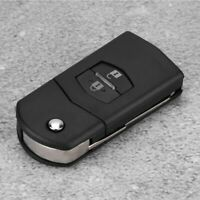 Flip 2 Button Remote Key Fob Case Shell Cover Fits For MAZDA 2 3 5 6 RX8 MX5 2B