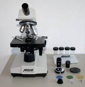 Monokular Mikroskop Labor, 10er & 16er Okular, 4x Objektive, max. 1600 Vergr.