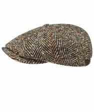 Stetson Men's Virgin Wool Herringbone Hatteras Cap