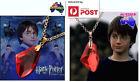 Harry Potter Philosopher's Sorcerer's Stone Red Gem Necklace Deathly Hallows