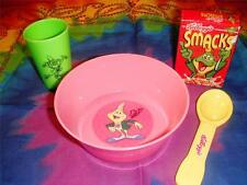 Childrens Play food Kellogg's Honey Smacks Cereal box Bow Cup Spoon Playfood Lot