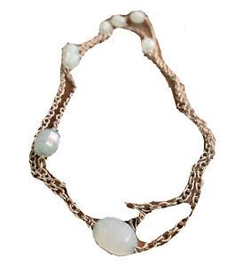 "Jewel Kade Silver Tone 25"" Blue Bead Charm Necklace"