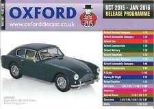 OXFORD DIECAST OCTOBER 2015 - JANUARY 2016 RELEASE PROGRAMME CATALOGUE