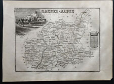 Basses-Alpes  - 1867 - Carte ancienne du département - Antique Map - France