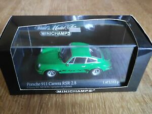 MINICHAMPS - 1/43 - PORSCHE  911 Carrera RSR 2.8 - 1973 - Vipergrün mit schwarz