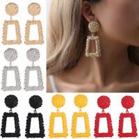 New Women Gold Silver Geometric Statement Drop Dangle Earrings Wedding Jewelry