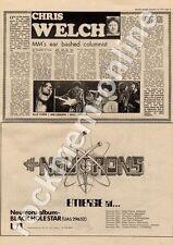 Neutrons The Man Black Hole Star UAS 29652 Palace Newark MM4 LP/Tour Advert 1974