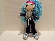 PUNK ROCK GIRL DOLL (MOVE ABLE LEGS-FEET- ARMS HEAD) (FAUX LEATHER JACKET)-RARE