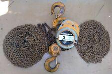 Harrington Cf030 20 3 Ton Chain Hoist 20 Ft Lift 20 Ft Pull