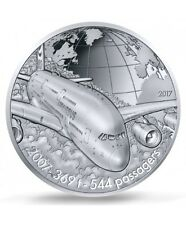 FRANCE 10 Euro Argent BE 2017 L'Aviation Airbus A380 - Silver coin