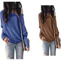 Solid Women's Casual Blouse Long Sleeve Shirt Tops T-shirt Ladies Fashion Loose