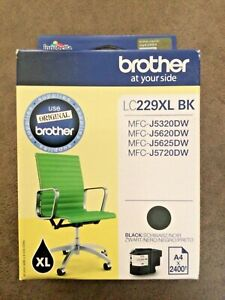 Original Brother LC229XL High Capacity Black Printer Ink Cartridge (LC229XL BK)