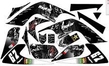 Fits Yamaha Raptor YFZ 700.06-12. FREE Name & No. Custom Decal Graphics Sticker