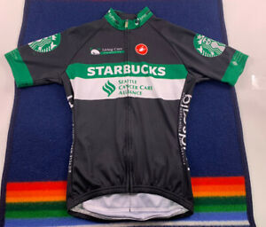 Castelli SCAA STARBUCKS COFFEE Cycling team Jersey full-zip MED Made In USA