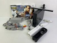 Nintendo Wii Game System Console Bundle w/ Controller, 3 Games +Extras! - TESTED