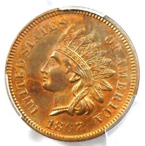 1867 Indian Cent Penny 1C - PCGS Uncirculated Details (UNC MS) - Rare Key Date!