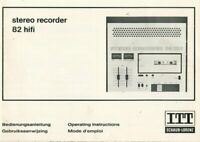 ITT Schaub-Lorenz - recorder 82 hifi - Bedienungsanleitung Instructions - To-335
