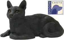 Small/Keepsake 48 Cubic Ins Shorthair Cat ShadowCasts Bronze Urn for Ashes