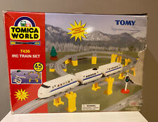 TOMY Tomica World Road & Rail System Train Set 7436 Complete - Read Discription