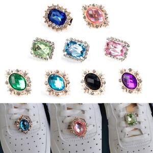 Crystal Rhinestone Buckle Accessories Shoes Charm Shoelace Jewelry Decoratio.ji