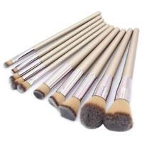 10pcs Professional Makeup Brush Set Powder Blush Eyeshadow Cosmetic Brushes Kit