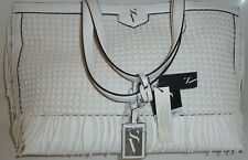 Simply Vera Vera Wang White Boswell Summer Tote Purse Shopping Bag Handbag