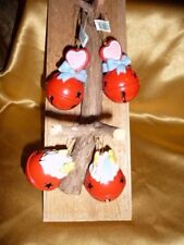 4 PerJinkitie Red Jingle Bell 2 with cloud /stars 2 heart /bow with Star Cutouts