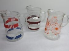 Vintage Glass Beverage Pitchers - Lot of Three (3)
