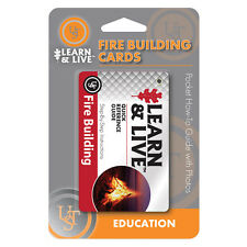 UST Learn & Live Fire Building Cards - Pocket How-To Survival Guide with Photos