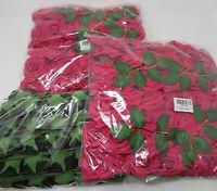 Lmeison/Homcomoda Artificial Flowers Fuchsia and Black 100+