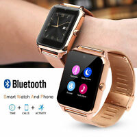 Bluetooth Smart Wrist Watch Steel Band Phone Mate For Android  iOS-Apple Iphone