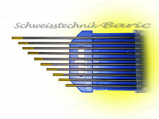 10 x Wolframelektrode Gold WL15 2,4 x 175 zum TIG  WIG - Schweißen Wolframnadeln