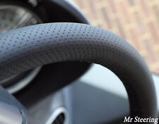 Per Mini Cooper R50 01-06 reale TRAFORATA NERO IN PELLE STEERING WHEEL COVER NUOVA