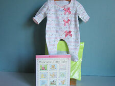 NEW IN PACKAGE! RETIRED Bitty Baby/Twin Pink Bow Sleeper & Welcome Book