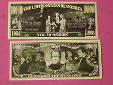 The MUNSTERS TV Show ~ Scarry $1,000,000 One Million Dollar Bill: United States