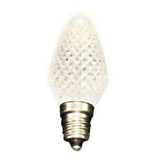 Brand New Light - C7 White Faceted Xmas Light LED Replacement Bulb