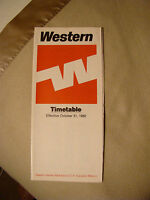 Western Airlines - Timetable - Oct. 31, 1982