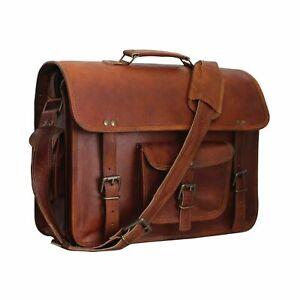 New Women's Leather Satchel Large Brown Briefcase Messenger Shoulder Laptop Bag