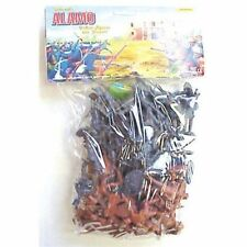 AMERICANA Alamo Playset 55 Toy Soldiers Mexicans Texans Crockett Bowie FREE SHIP