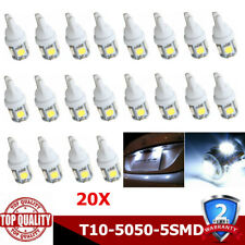 20x T10 Led Canbus Error Free 5 SMD Car Side Wedge light Bulb White 168 194 CN