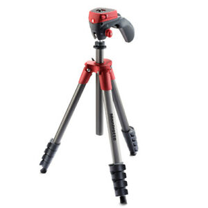 Manfrotto Compact Action Tripod (MKCOMPACTACN-RD) [MANFROTTO WARR]