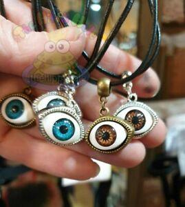 Eye 3D pop charm choker necklace