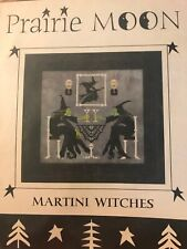 Martini Witches Prairie Moon Halloween Cross Stitch Pattern Witch Skeleton RARE