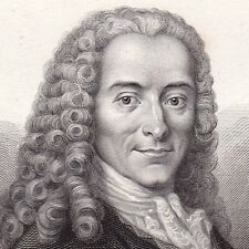 Portrait Voltaire Philosophie Philosophe François Marie Arouet Ferney Ain 1850