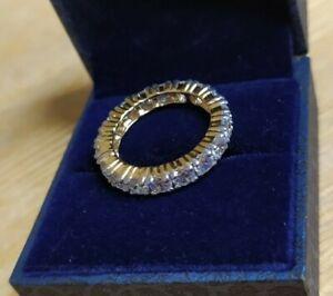 Tru Diamonds Diamond Eternity Gold Ring - UK Size M - Tru Diamond Hallmarked
